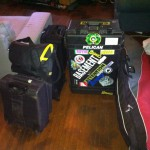 My luggage, going home