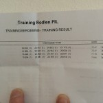My first day of training results